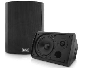 Pyle Pair of Wall Mount Waterproof & Bluetooth Speaker