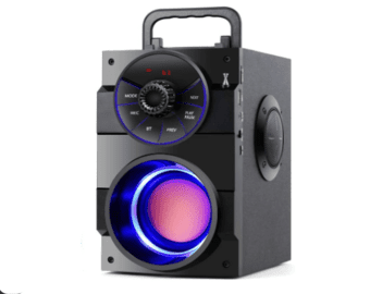 TAMP ROAD Portable Bluetooth Speakers with Subwoofer Rich Bass Wireless