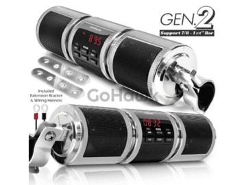 GoHawk RD8 Waterproof - Bluetooth Motorcycle Stereo Speakers