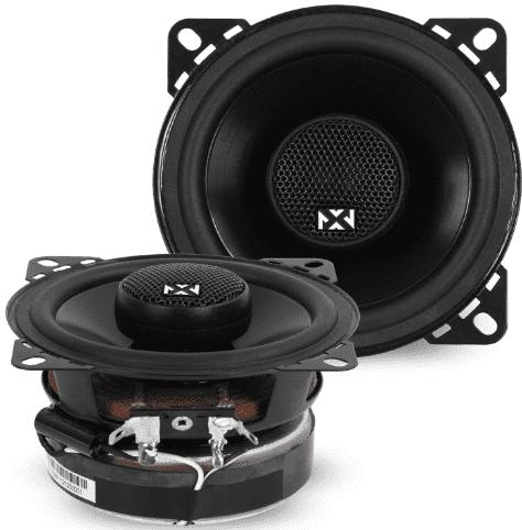NVX 4 inch Professional Grade True 2 Way Coaxial Car Speakers