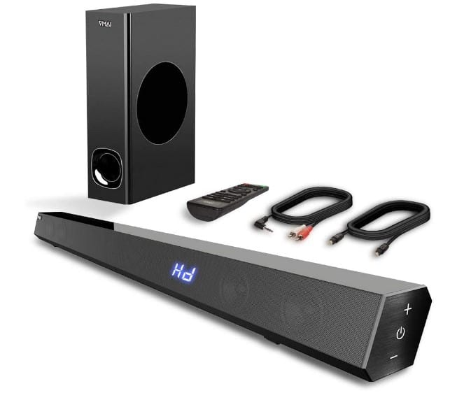 Vmai TV Sound Bar with Subwoofer, 120W 2.1